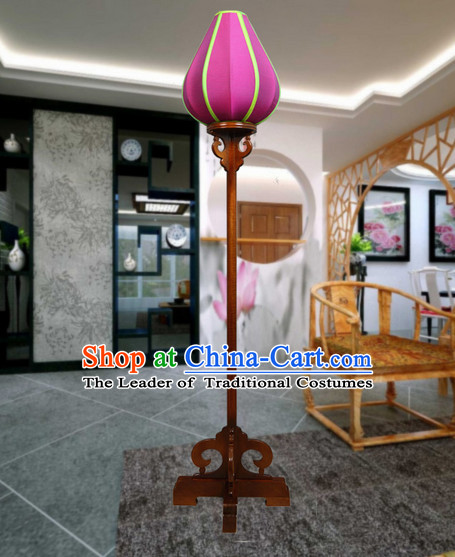 Handmade Traditional Silk Flower Floor Lantern