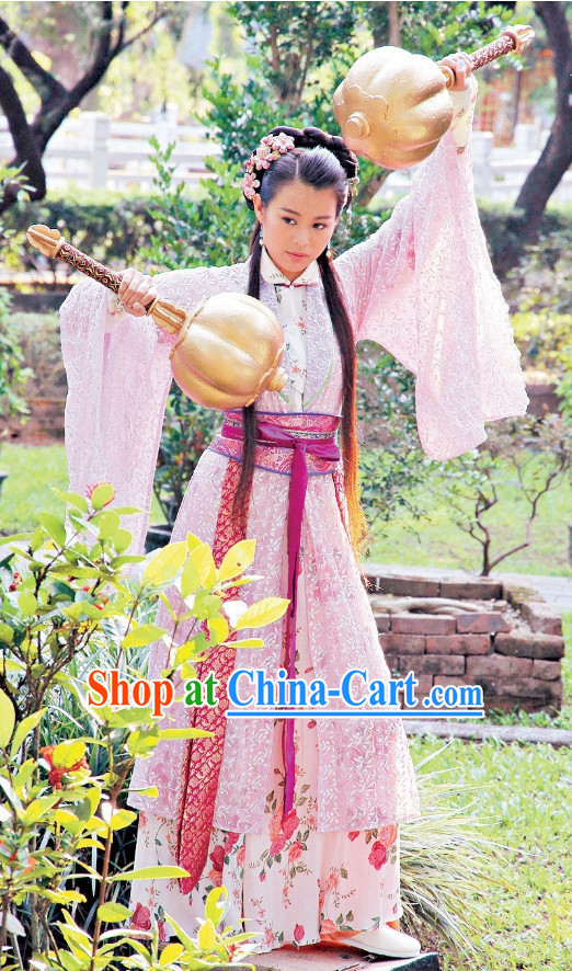 Ancient Chinese Hammer Heroines Costumes Complete Set