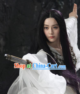 Ancient Chinese Long Black Wig for Girls