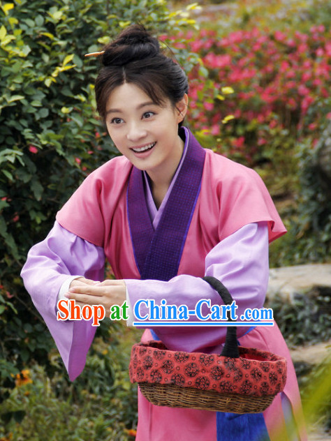 Ancient China Girl Civilian Clothing