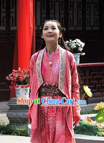 Chinese Pink Hanfu Outfit for Women
