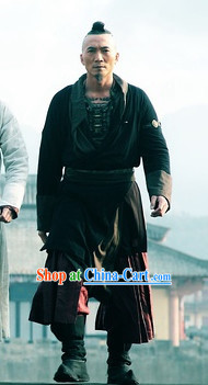 Ancient Chinese Swordman Black Suit for Men