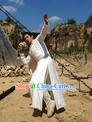 Traditional Kung Fu Master Dresses Complete Set for Men