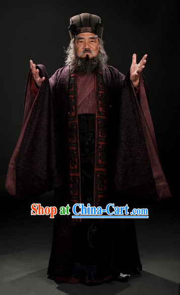 Three Kingdoms King Costumes and Hat