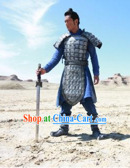 Chinese Qin Dynasty Period Ancient Terracotta Terra Cotta Armor Costumes Complete Set for Men