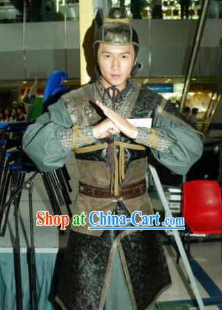 Chinese Classic Oriental Clothes Knight Errant Costumes Complete Set