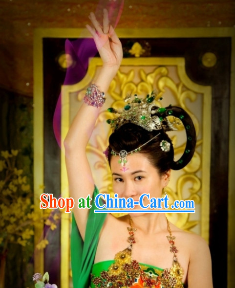 Chinese Classic Dancing Empress Wig and Hair Accessories online Buy