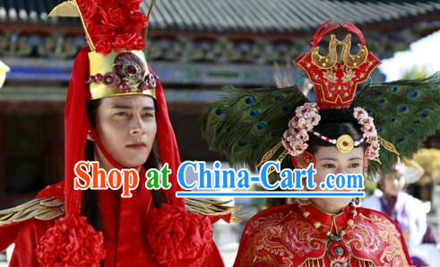 Chinese Classic Wedding Hats for Men and Women