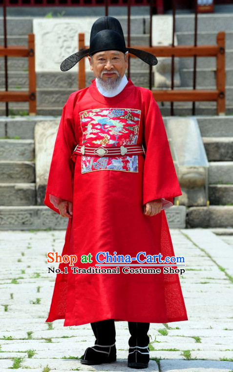 Ancient Korean Prime Minister Costume Complete Set