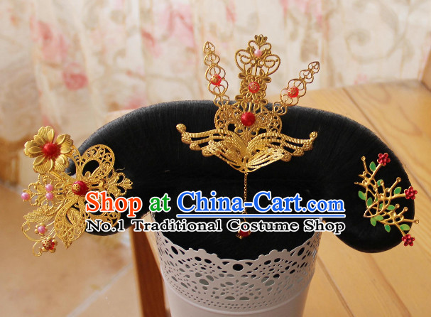 Chinese Traditional Manchu Princess Hair Jewelry