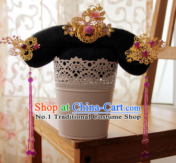 Chinese Traditional Qing Dynasty Princess Hair Decorations for Women
