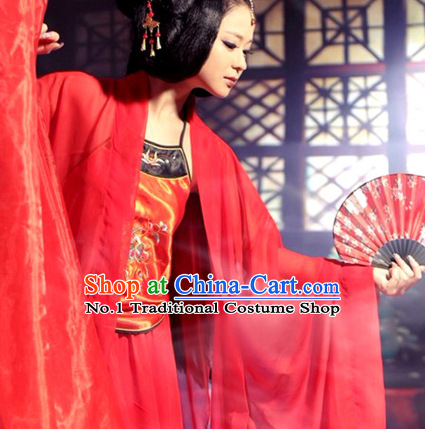 Chinese Red Beauty Sexy Bride Beauty Costumes Complete Set