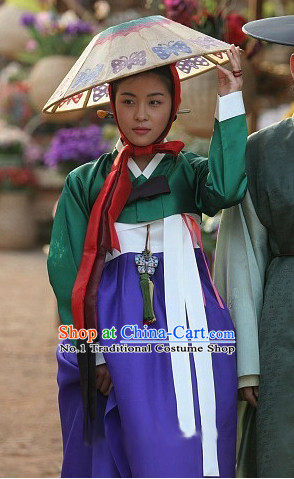 Traditional Korean Female Hanbok Costumes