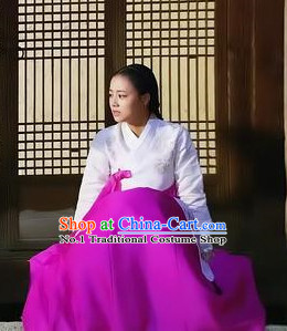 Traditional Korean Hanbok Costumes for Ladies
