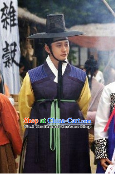 Traditional Korean Scholar Costumes for Men