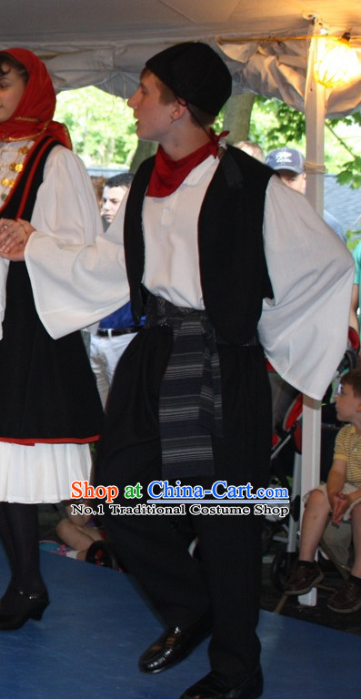 Traditional Greek Dance Costumes Complete Set for Boys