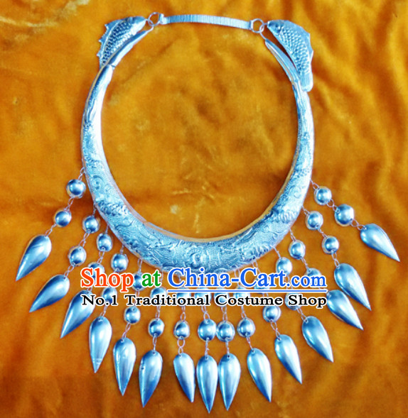 Traditional China Silver Miao Necklace