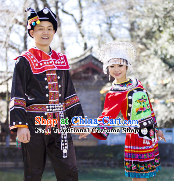 Traditional China Miao Clothes for Men and Women