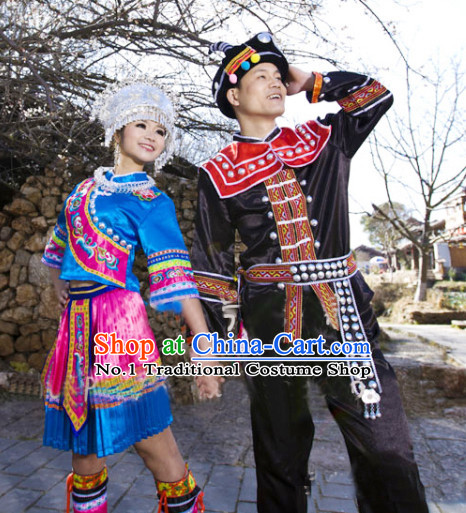 Chinese Miao Couple Dresses