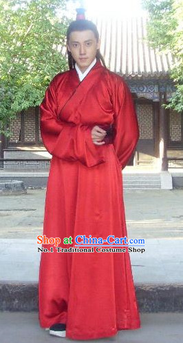 Red Traditional Informal Wedding Dresses for Men