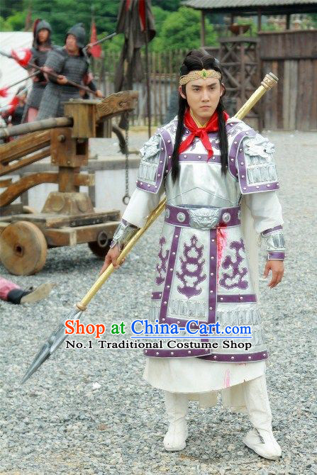 Chinese Tang Dynasty Superhero Armor Costumes for Men