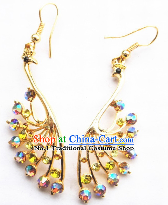 Traditional Thailand Peacock Earrings for Women
