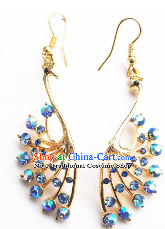 Traditional Thailand Peacock Earring for Women