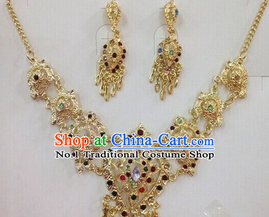 Traditional Thailand Necklace and Earrings for Women