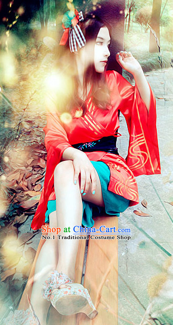 Anime Cosplay Cute Red Girl Costumes
