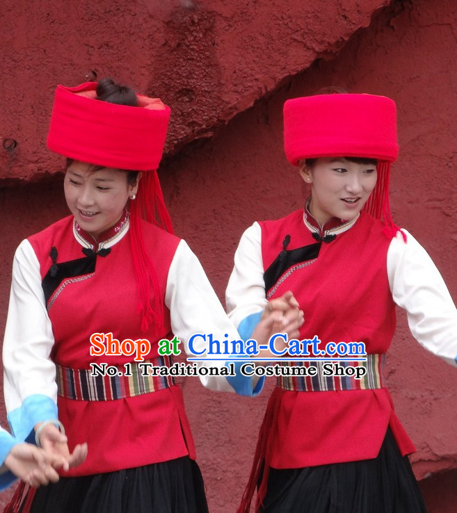 Chinese Yunnan Ethnic Women's Clothes and Hat