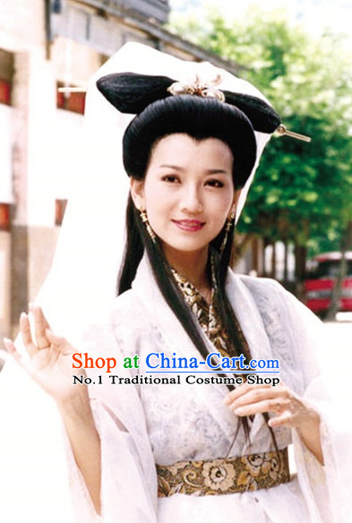 Chinese Ancient Fairy Headwear and Hair Wigs