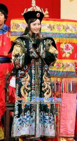 Chinese Theme Photography Empress Costumes and Hat