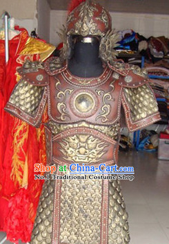 Chinese Hero TV Play Armor Costumes and Helmet