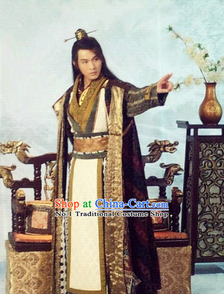 Ancient China Prince Costumes and Coronet for Men