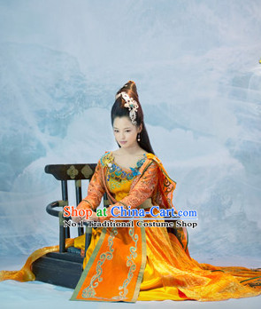 Ancient China Queen Costumes Complete Set for Girls