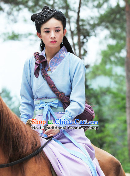 China Ancient Traditional Swordwomen Costumes