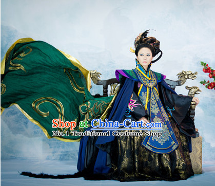 China Ancient Traditional Queen Clothing Complete Set