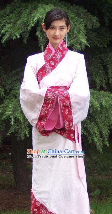 China Ancient Traditional Hanfu Clothing Complete Set