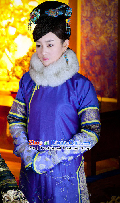 Manchu Princess Robe Costumes and Headwear