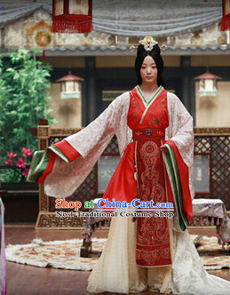 Han Dynasty Queen Costumes and Hair Accessories