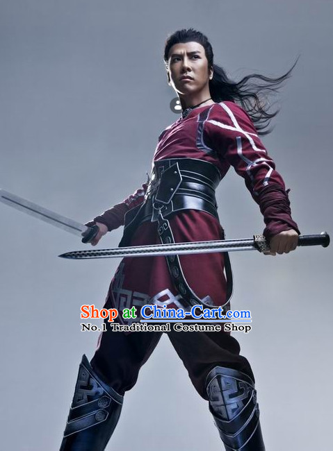 Ancient China Kung Fu Warrior Armor Cosplay Costumes for Men