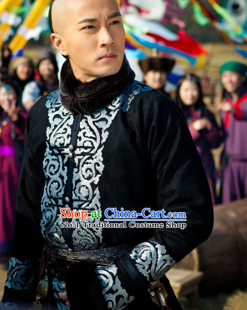 Qing Dynasty Long Jacket for Men