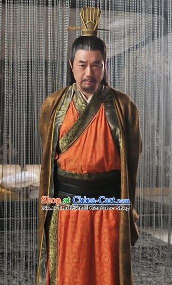 Three Kingdoms Ancient Cao Cao Costumes and Hat for Men