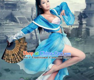 Asian Style Blue Sexy Costumes