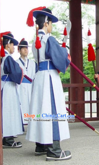 Korean Traditional Guard Dress and Hat for Men
