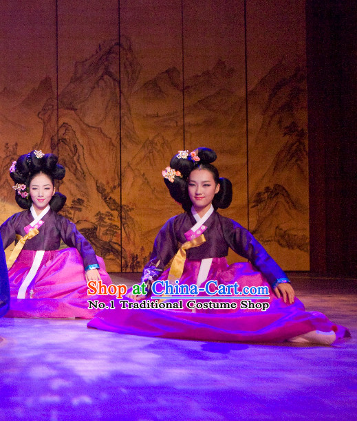 Korean Traditional Hanbok Stage Dance Dresses for Women