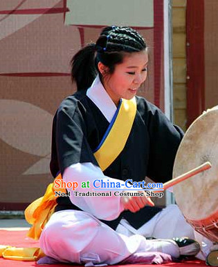 Korean Musician Drum Perormance Costumes