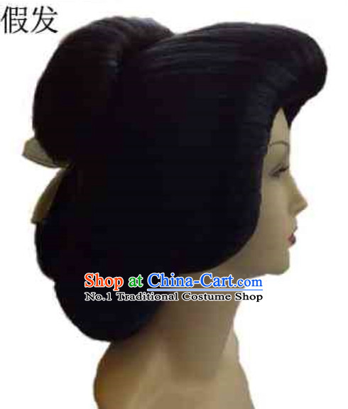 Japanese Traditional Black Female Wig