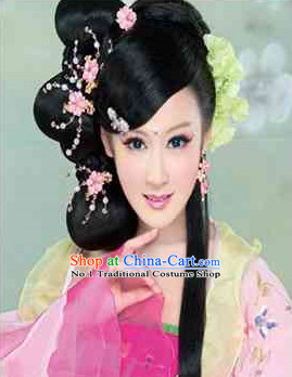 China Traditional Black Wig and Hair Accessories