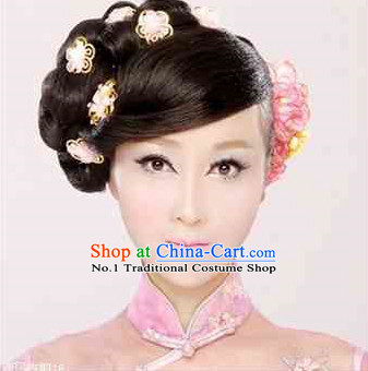 Chinese Black Wig and Hair Accessories